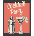 cocktail party invitation poster vector image vector image