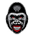 color with a smiling gorilla vector image vector image