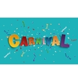 Colorful handmade font type carnival vector image vector image