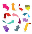 colorful ribbon arrow set arrow stickerst various vector image vector image
