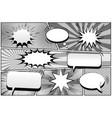 comic book page monochrome retro template vector image