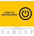 conceptual start up new business project take vector image
