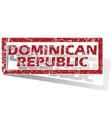 Dominican Republic outlined stamp vector image