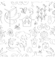Doodle pattern ecology vector image vector image