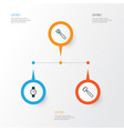equipment icons set collection of timer garden vector image