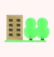 flat icon in shading style multi-storey building vector image vector image