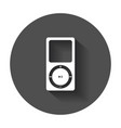 flat icon - of music player player with long vector image