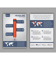 flyer design with elements infographics vector image