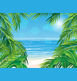 frame palm leaves vector image