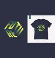 future graphic mens three dimensional t-shirt vector image vector image