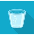 Glass of water icon vector image vector image