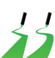 green marker vector image vector image