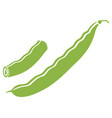 green peas icon vector image