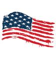 Grunge usa flag vector image
