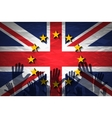 hand patterned with the flag of the European vector image vector image