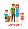 happy family flat with mother vector image vector image