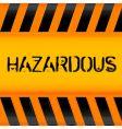hazardous icon vector image