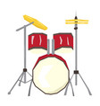 isolated geometric drum set vector image