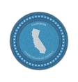 Label with map of california Denim style vector image vector image