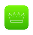 line crown icon green vector image vector image