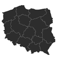 map of Poland with regions vector image