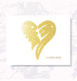 marble heart gold vector image