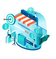 modern isometric concept for online shopping vector image