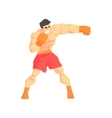 Muscly Man Boxing Martial Arts Fighter Fighting vector image vector image