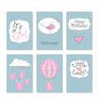 new born set cards vector image