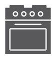 oven glyph icon home and appliance stove sign vector image vector image