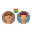 people icons in modern style with gay couple vector image