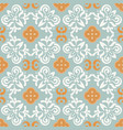 portuguese style blue ceramic tile seamless vector image vector image