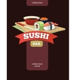 poster of Sushi rolls food vector image vector image