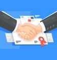 profitable business partnership vector image vector image