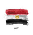 realistic watercolor painting flag egypt vector image