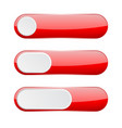 red menu buttons web 3d icons vector image vector image