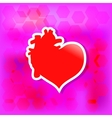 Red valentine heart Love concept vector image vector image