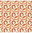 Seamless Background Of Sausages vector image vector image