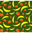 Seamless texture with bananas and strawberries vector image