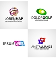 set modern colorful abstract web alliance golf vector image