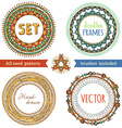 set of doodles ethnic frames vector image