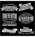 set of patterns for congratulations a happy birthd vector image