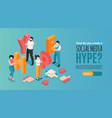 social media hype banner vector image