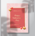 special offer valentines day abstract vector image vector image
