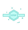 stop barrier icon design vector image vector image