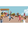 traditional open market activity busy people vector image vector image