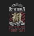 us veteran solid soldier vector image vector image