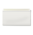 View of backside of opened DL envelope isolated vector image vector image