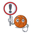 with sign basket ball in character shape vector image