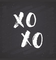 xoxo brush lettering sign grunge calligraphiv c vector image vector image